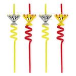 Chanukah Menorah Straws set of 4