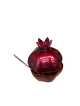 Stunning Red Pomegranite Honey Dish With Chocolate Mounted On A Box