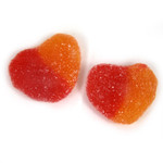 Gummy Peach Hearts