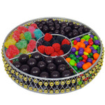 Beaded Round Metal Sectional