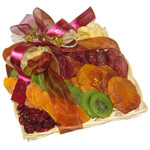 Small Wicker filled with Rosh Hashanah Dried Fruit
