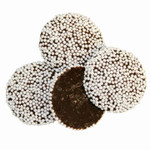 Passover Chocolate Non Pareils with White Seeds