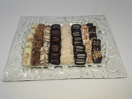 Gold Pebbled Tray Filled with Chocolates