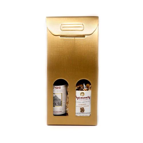 Gold Popinsanity Box With Wine