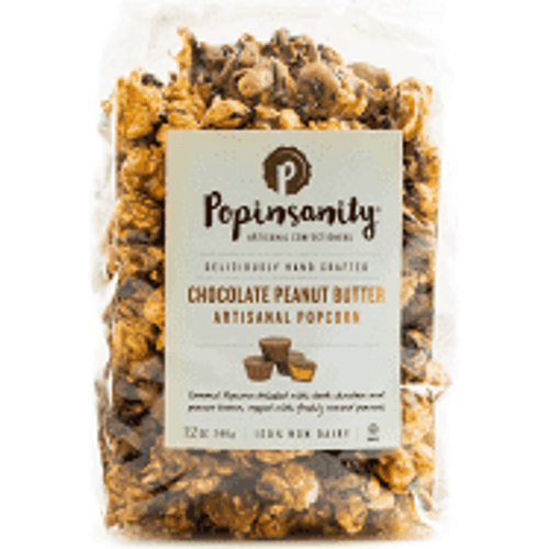 Popinsanity Chocolate Peanut Butter 12oz Bag