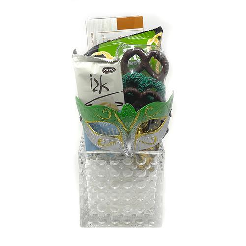Purim Glass Bubble Vase