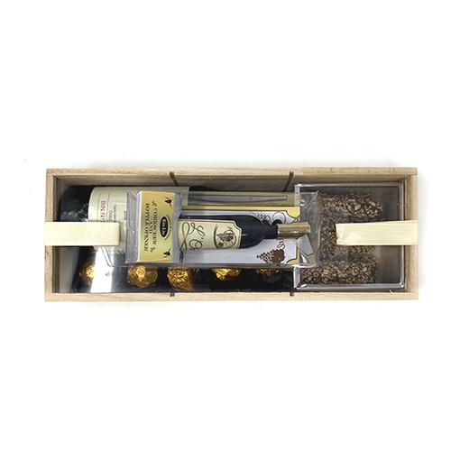 Purim Wooden Box With Wine Corkscrew