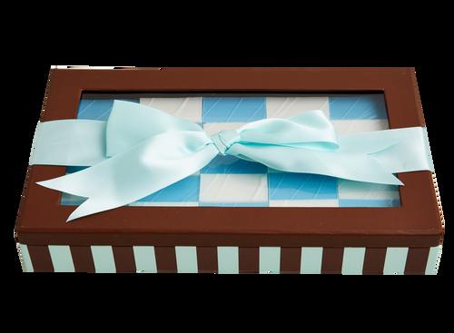 Chewzy Blue and White Baby Boy Gift Box