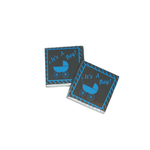 Set of 4 Chocolate Squares- It's a Boy