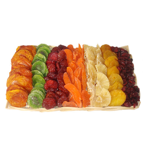 Large Rectangular Wicker Filled With Dried Fruit