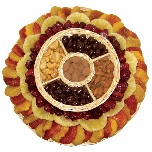 Large Round Dried Fruit and Nuts Wicker