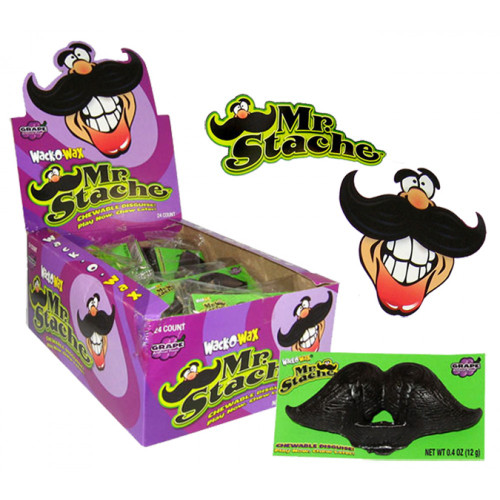 Wack-O-Wax Mr. Stache Wax Candy Mustache