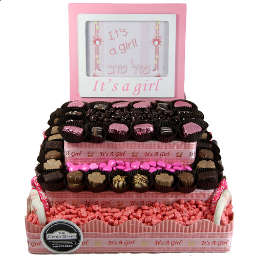 Three Tier Square Centerpiece-Girl
