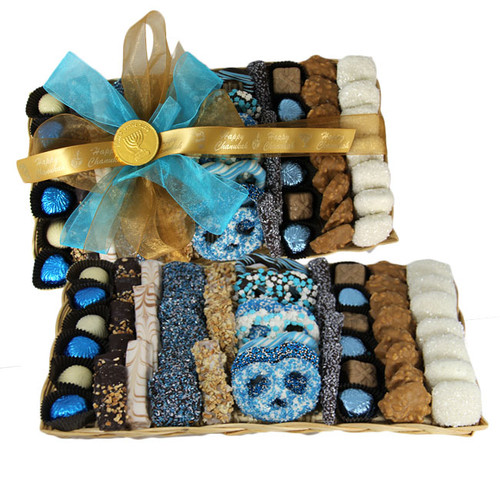 Chanukah Chocolate Wicker