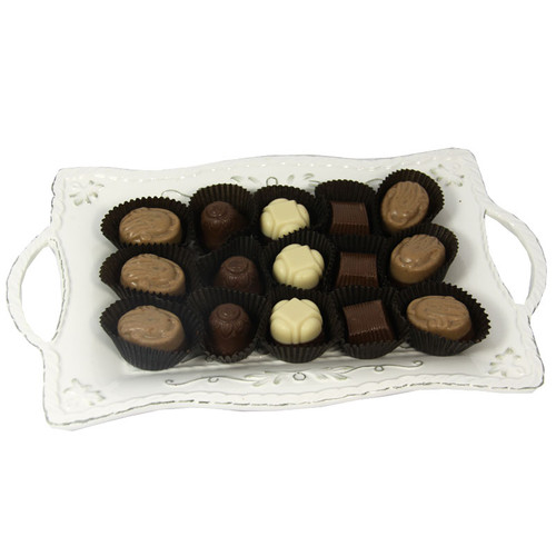 Small Ceramic Dish filled with Chocolate Truffles
