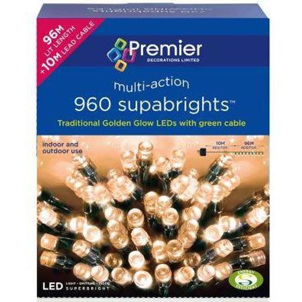 Premier Dec 960 Multi-Action Super-bright LED String Lights