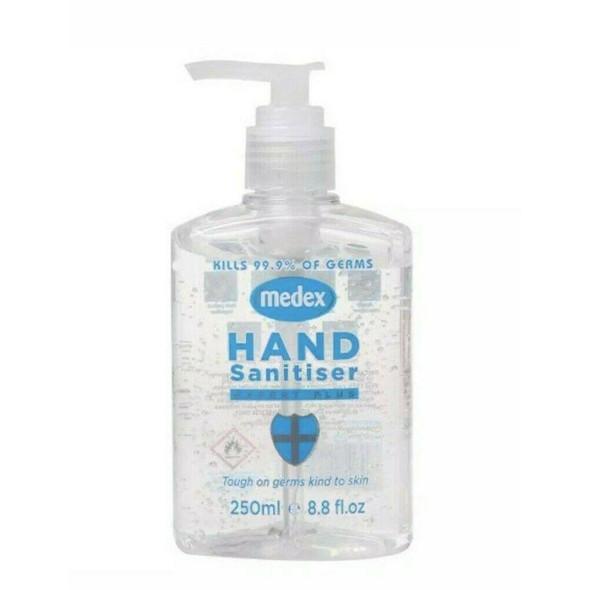 Medex Antibacterial Hand Sanitizer Gel 250ml Pump