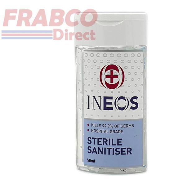 INEOS Hospital Grade 75% Alcohol Hand Sanitizer Hand Gel 50ml