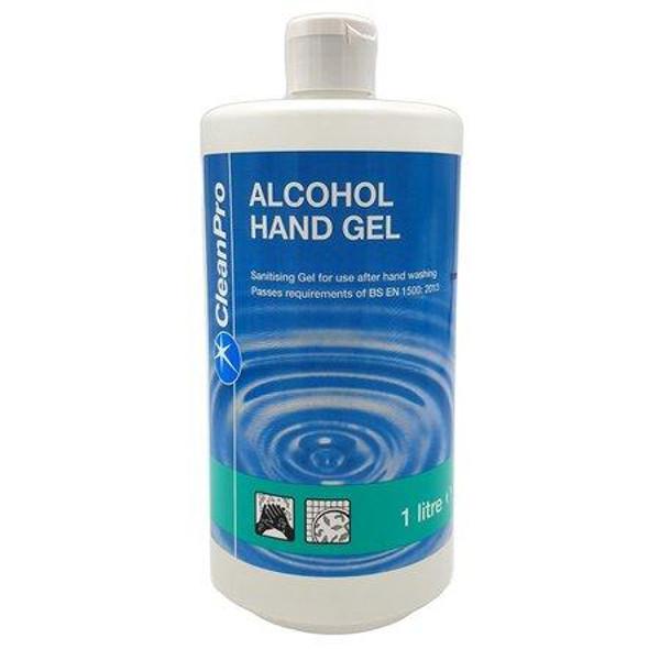 CleanPro Alcohol Hand Gel 1000ml 1Litre