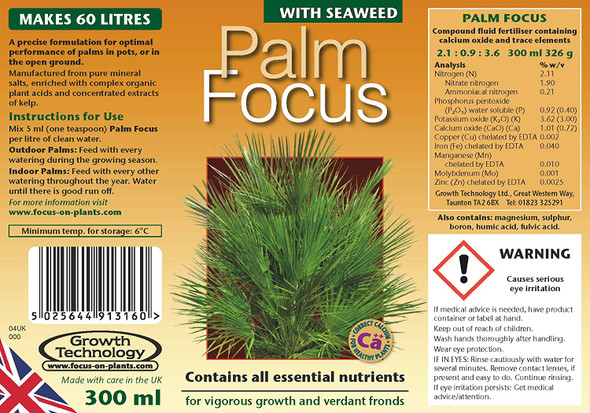 Palm Focus 300ml Concentrated Plant Feed