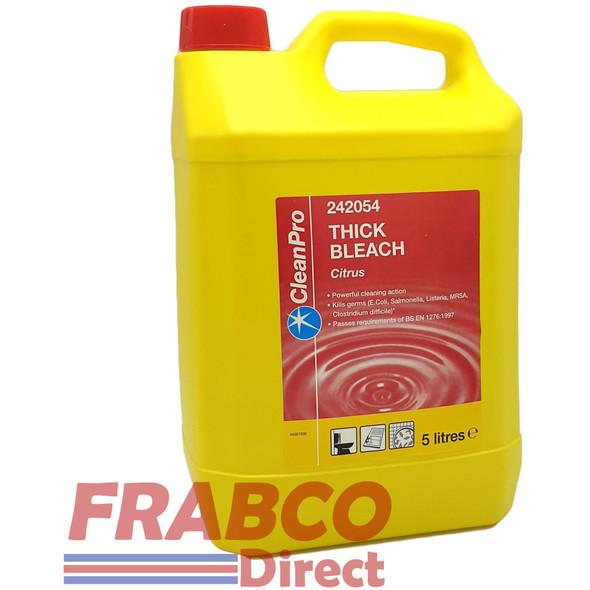 CleanPro Commercial Strength Thick Bleach Ctrus 5 Litre
