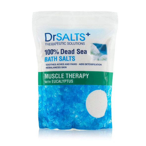 Drsalts 100% Dead Sea Bath Salts with Eucalyptus Muscle Therapy with Natural Minerals, 2KG