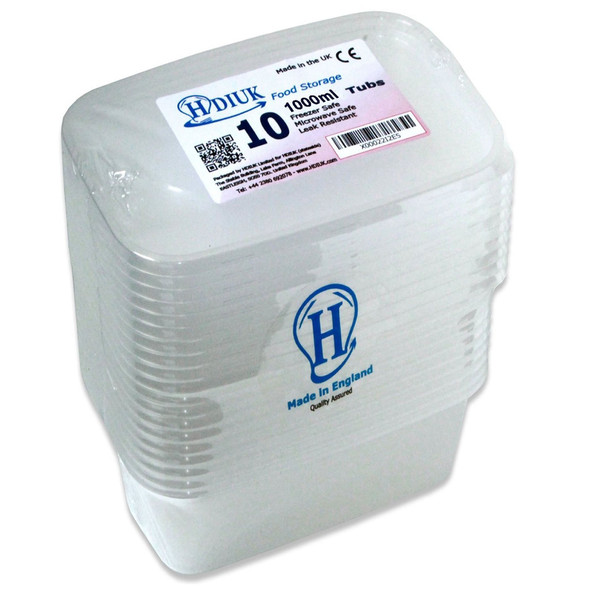 Microwave / Freezer Safe Plastic Food Boxes / Containers and Lids