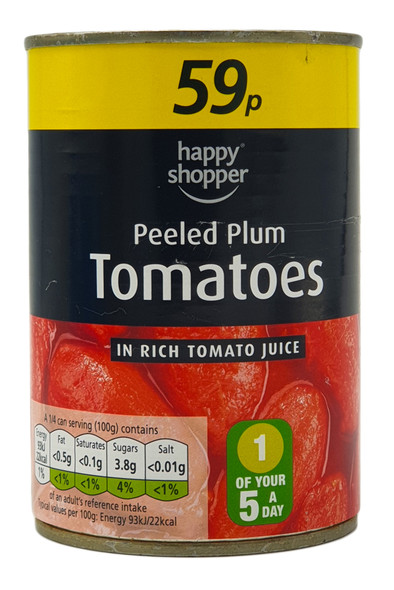 Peeled Plum Tomatoes In Rich Tomato Sauce 400g Can