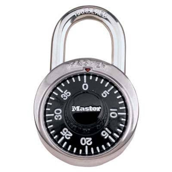 Master Lock Vault style dial combination padlock.