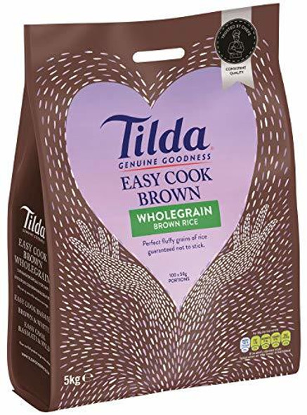 Tilda Easy Cook Wholegrain Brown Rice 5kg