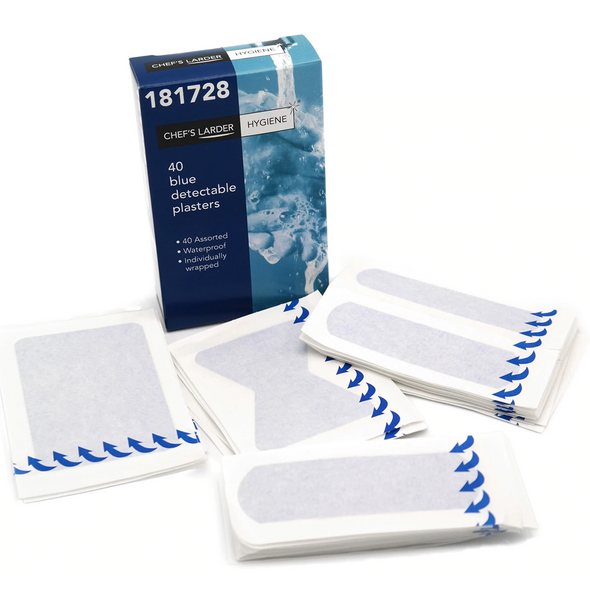 40 Assorted Blue Waterproof Plasters