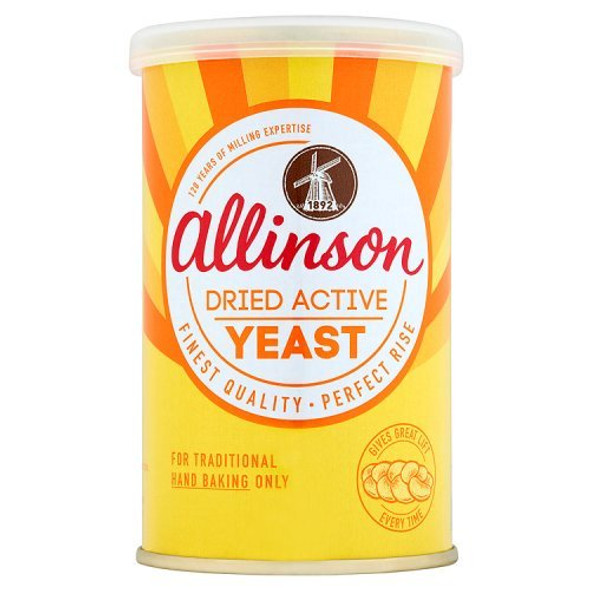 Allinson Dried Active Baking Yeast, 125g Can