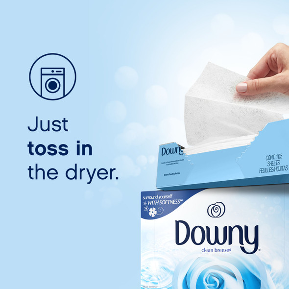 Downy Clean Breeze Fabric Softener Dryer sheets 105ct