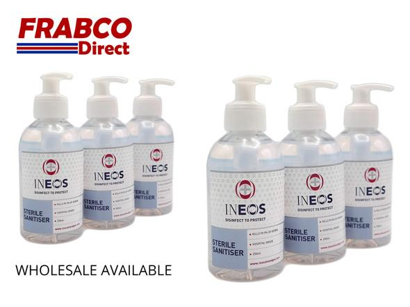 6 Pack INEOS Hospital Grade 75% Alc Hand Sanitizer Hand Gel 250ml