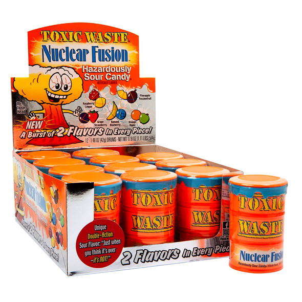 Toxic Waste Nuclear Fusion Sour Candy 42g X 12