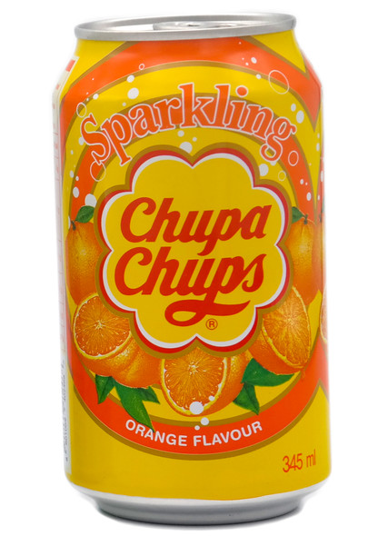 Sparkling Chupa Chups Soda 345ml Orange Flavour