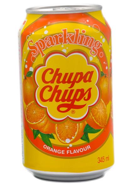 Sparkling Chupa Chups Soda 345ml Orange Flavour