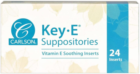 Carlson Labs, Key-E Suppositories, with Natural Vitamin E, 24 Soothing Inserts