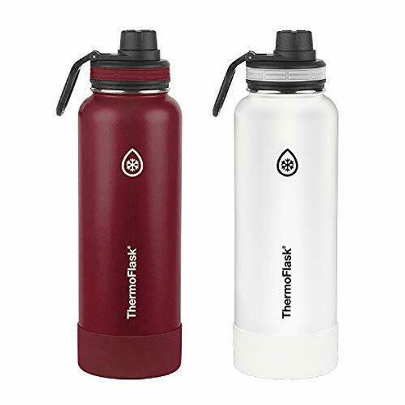 2 x 24oz Double Wall Vacuum Insulated Stainless Steel Water Bottles