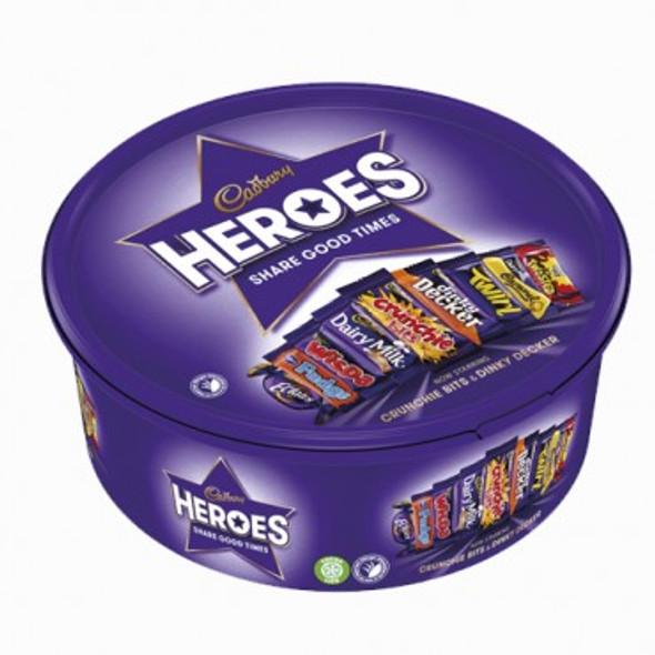 Cadbury Heroes Chocolate Tub 600g (dated 31 Mar 21)