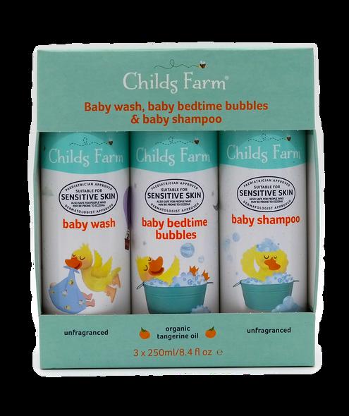 Childs Farm Baby Wash, Bedtime Bubbles & Shampoo Gift Set