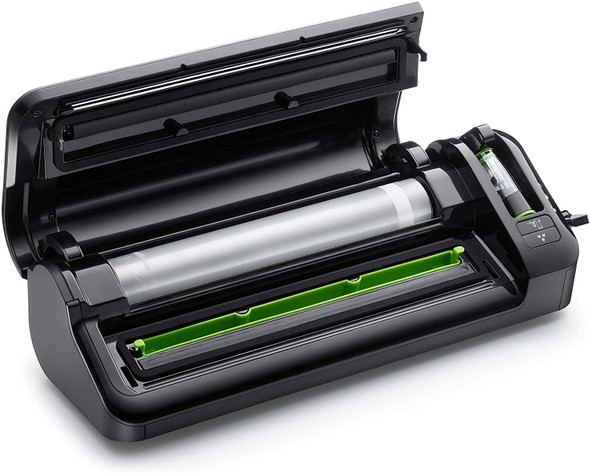 FoodSaver Food Sealer Vacuum Sealer Machine with Roll Storage, Includes Assorted Vacuum Bags, FFS017