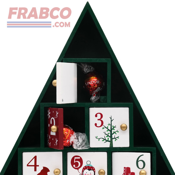 High Quality Wooden Advent Tree Christmas Calendar