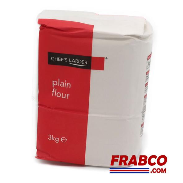 Chefs Larder Plain Flour 3kg (dated End Mar 21)