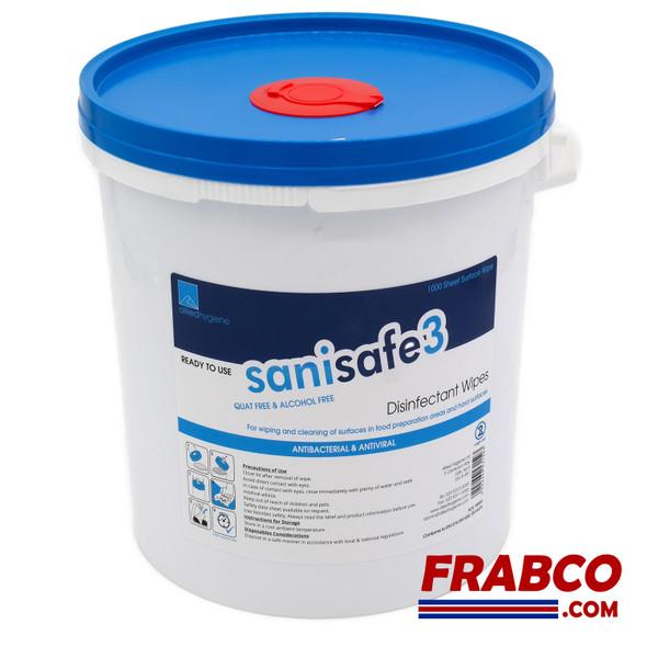 SaniSafe3 Antibacterial & Antiviral  Surface Wipes 1000 Dispenser Tub