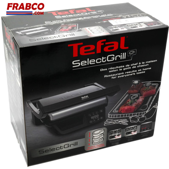 TEFAL Tefal Select Grill GC740B40 Electric Health Grill, Stainless steel, 1800W, 4-6 portions