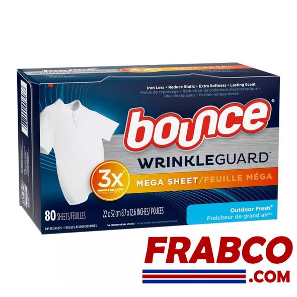 Bounce WrinkleGuard 80 Mega Sheets Outdoor Fresh