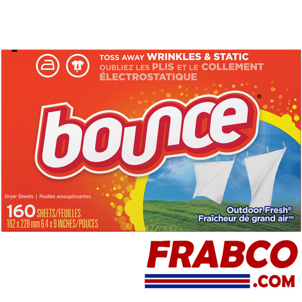 Bounce Outdoor Fresh Scent Fabric Softener Dryer Sheets (160-Count)