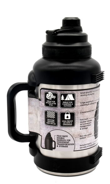 Titan Stainless Steel Double Wall Vacuum Insulated 2.5L Jug, Black