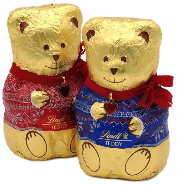 Lindt Teddy Twin Pack Red and Blue 2 x 200g